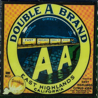 Double A Brand - Vintage Citrus Crate Label - Handmade Recycled Tile Coaster