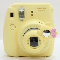 Minilujia Fujifilm Instax Mini 7s Mini 8 Selfie Len Yellow Cat Style Close Up Lens with Self-portrait Mirror For Fujifilm Instax Mini 8 mini 7s Camera
