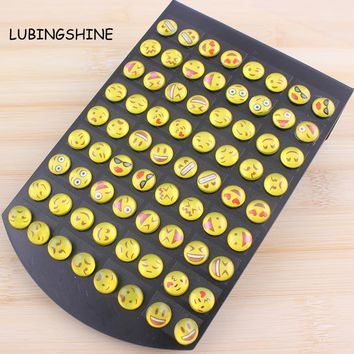 LUBINGSHINE New Arrival 36 Pairs Emoji Earrings Funny Face Ear Stud Happy Face Fashion Jewelry for Women Girls Gifts