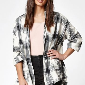 Billabong Live Out Loud Plaid Flannel Cardigan at PacSun.com