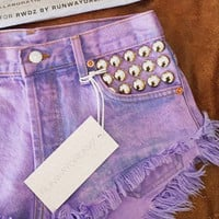 450 Rose Pink Studded Babe Shorts