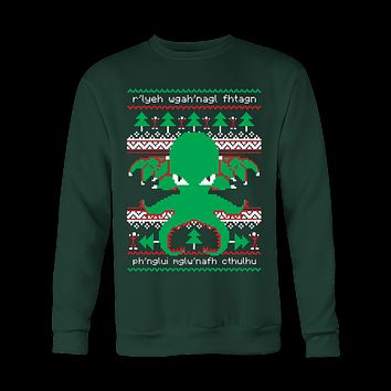 Cthulhu Cultist Christmas - Cthulhu Christmas Sweater - Ugly Sweatshirt
