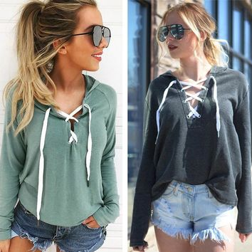 Slouchy Laceup Hoodie