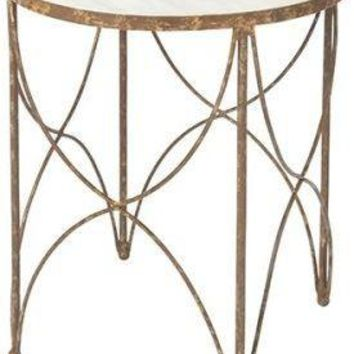 Halmstad Side Table in Rustic Storm