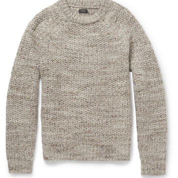 J.Crew - Suede Elbow Patch Wool-Blend Sweater | MR PORTER