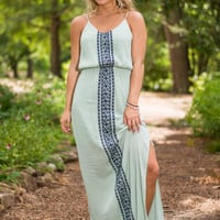 Front Row For The Show Maxi Dress, Sage