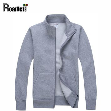 Men/ Women Casual Clothing Cotton Cardigan Hoodies Mens Solid Color Sweatshirts Slim Hoodie jacket Coat Workout tracksuit