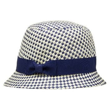 Infant Toddler Girls' Checkered Cloche Hat - Blue