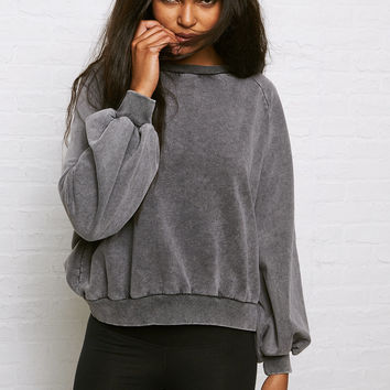 Don't Ask Why Oversized Sleeve Sweatshirt, Black