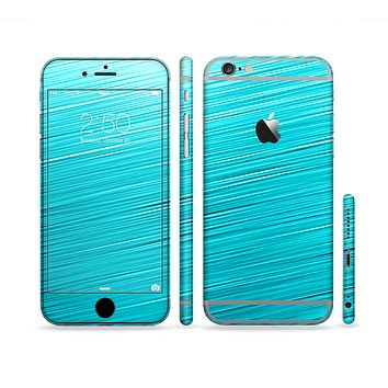 The Light Blue Slanted Streaks Sectioned Skin Series for the Apple iPhone 6s