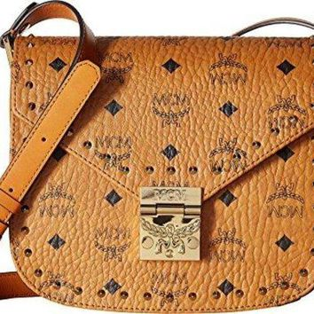 DCCKV3S MCM Womens Patricia Studded Outline Visetos Small Shoulder  mcm