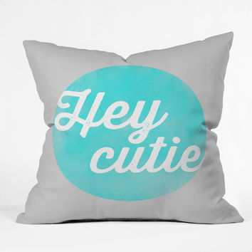 Allyson Johnson Hey Cutie Throw Pillow