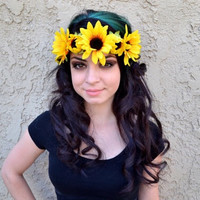 Sunflower Blossom Headband #C1019
