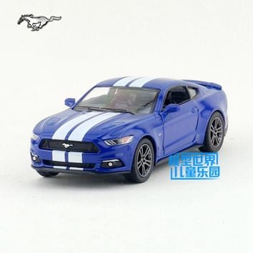 High Simulation KiNSMART 1:38 Ford Mustang GT alloy pull back model cars Two door sports car kids toys gifts free shipping