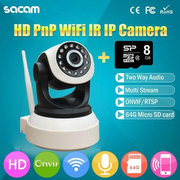 2016 wifi ptz ip camera p2p night vision Pan Tilt 1000TVL surveillance camera 720P infrared onvif  smart intelligent kamera hd