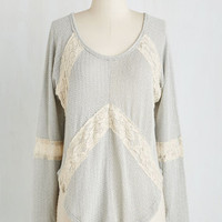 Mid-length Long Sleeve Trusting Tranquility Top