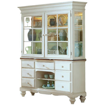 5265BH Pine Island Buffet and Hutch - Old White Finish