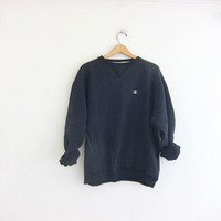 vintage washed out black sweatshirt. slouchy Champion sweatshirt