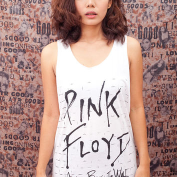 Pink Floyd Shirt The Wall Classic Rock Band Tshirt Shirts Vest Tank Top White T-Shirt Unisex Tee Size S , M , L