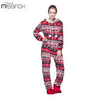Fashion Unisex Autumn and Winter Pajama Set 2016 Cartoon Pajama Red Bird for Women Flannel Adult Hooded Animal pajama Onesuits