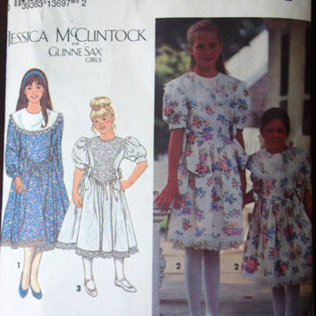 Simplicity 8253 Pattern for Jessica McClintock for Gunne Sax Dress, From 1992