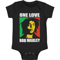 Bob Marley Boys' One Love Bodysuit Black Rockabilia