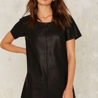 Nasty Gal Crew Baby Vegan Leather Dress