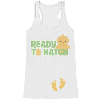 Custom Party Shop Womens Ready to Hatch Pregnancy Reveal Tank Top