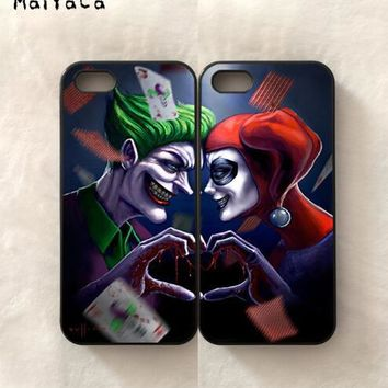 BFF joker love harley quinn pair lover silicone soft phone cases for iPhone x 5c 5s se 6 6s plus 7 7plus 8 8plus phone shell