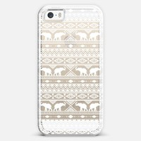 Elephant Tribal White Clear iPhone 5s case by Jacqueline Maldonado | Casetify