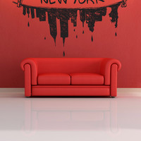 Vinyl Wall Decal Sticker New York City Clothes Hanger #1174
