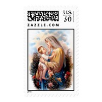 Blessed Virgin Mary and Infant Child Jesus Postage