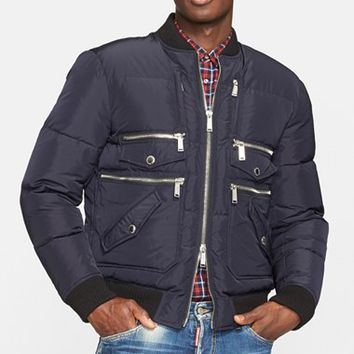 Men's Dsquared2 Quilted Down Bomber Jacket,