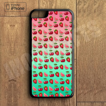 Cute Strawberry Fruit Collage  Phone Case For iPhone 6 Plus For iPhone 6 For iPhone 5/5S For iPhone 4/4S For iPhone 5C3 iPhone X 8 8 Plus