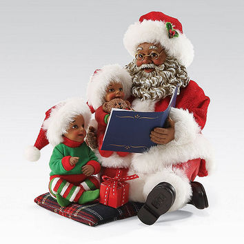 Possible Dreams African American Read It Again Santa Figurine | Dillards