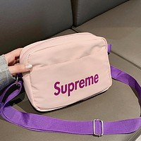 Supreme Women Men Canvas Crossbody Satchel Shoulder Bag Pink