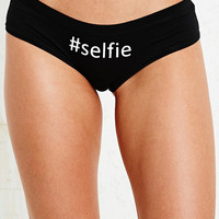 Selfie Hipster Briefs in Black - Urban Outfitters