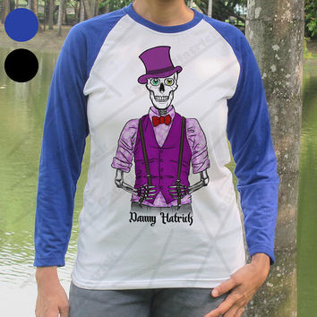 Prince Skull Baseball Shirt Danny Hatrick Music Purple Rain Skeleton Long Sleeve T Shirt