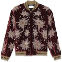 Indie Designs Saint Laurent Inspired Star Burst Embellished Viscode Velvet Teddy Jacket