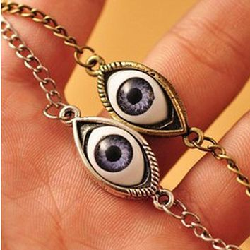 N421 Angel Devil's Eyes Necklace Pendants Fashion Jewelry Women Chain Necklaces Collares