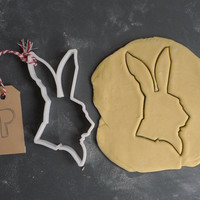 White rabbit, Alice in Wonderland cookie cutter, 3D printed