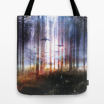Absinthe forest Tote Bag by HappyMelvin