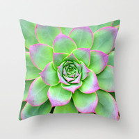 The Longest Bloom Throw Pillow by RichCaspian