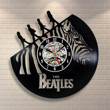 The Beatles Vinyl Record Wall Clock