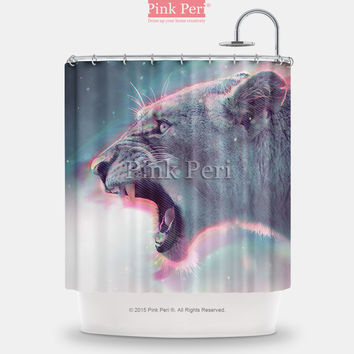 Hipster Lion Angry Lion Custom Shower Curtain Home & Living Bathroom 107