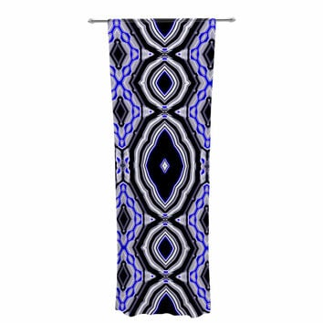 """Dawid Roc """"Inspired By Psychedelic Art 3"""" Purple Abstract Decorative Sheer Curtain"""