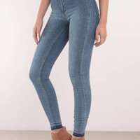 Cheap Monday High Spray Essential Blue High Waisted Jeans