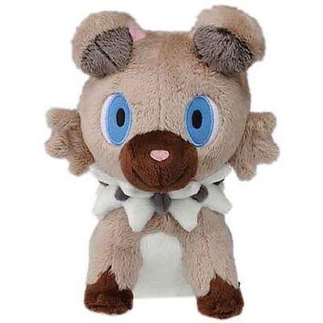 "Takaratomy Takara Tomy Pokemon Sun & Moon Rockruff 7"" Stuffed Plush Authentic US"