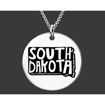 South Dakota State Necklace | Personalized State Necklace