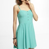 GREEN CAMI SUNDRESS